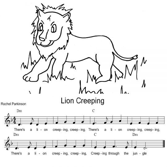 Music, Lyrics and Drawing for Lion Creeping
