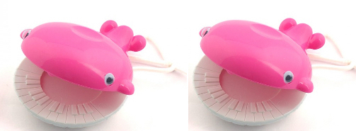 Castanets - pair of pink whales by Bambina